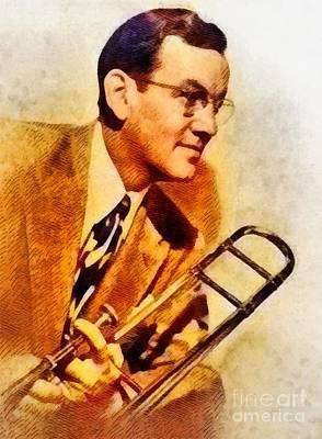 Music Paintings - Glenn Miller, Music Legend by Esoterica Art Agency