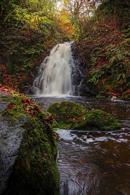 Photograph - Gleno Falls Portrait View by Glen Sumner