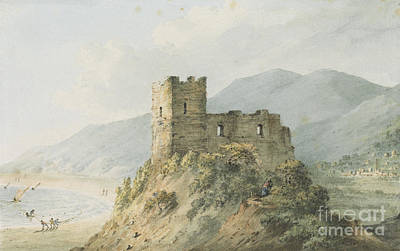 Warwick Castle Painting - Glensanda Castle Loch Linnhe by MotionAge Designs