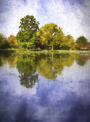 Water Reflections Digital Art - Glenview Impressions by Scott Norris
