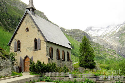 Photograph - Gletsch Church by Frank Townsley