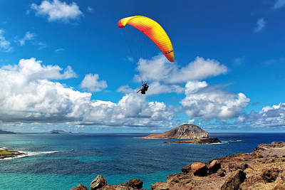 Cartoons Tees - Gliding Over Makapuu by Susan Rissi Tregoning