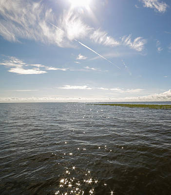 Photograph - Glimmering Sunlight - Lake Okeechobee by Christopher L Thomley