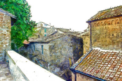 Digital Art - Glimpse Buildings Of The Village  by Giuseppe Cocco