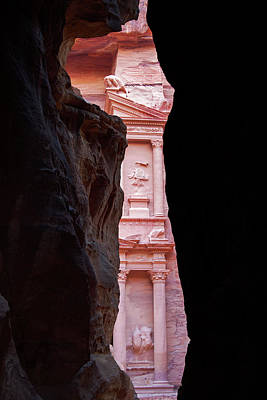 Glimpse Of The Treasury. Petra, Jordan. Art Print