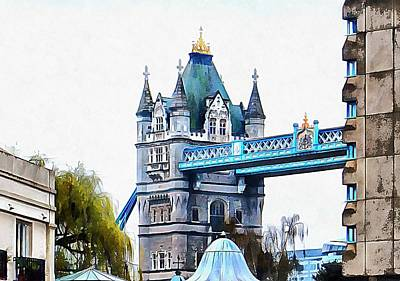 Photograph - Glimpse Of Tower Bridge by Dorothy Berry-Lound