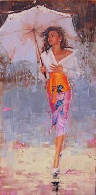 Painting - Glisten by Laura Lee Zanghetti