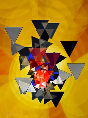 Glistening Scintillation Art Print by Raymond Klein