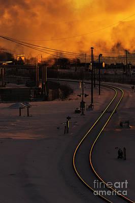 Photograph - Glistening Tracks by Paul Conrad