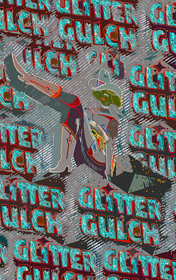 Glitter Gulch Painting - Glitter Gulch Cowgirl by David Lee Thompson