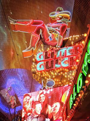 Photograph - Glitter Gulch Sign, Las Vegas by Tatiana Travelways