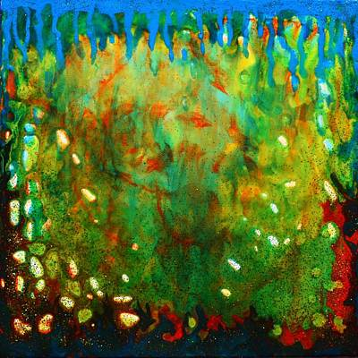 Painting - Glittering Coral Colorful Abstract Painting From Underwater Magic Series On Sale by Manjiri Kanvinde