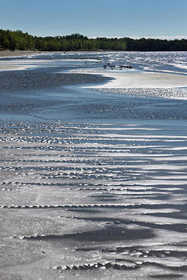Photograph - Glittering Water On Sand At The Beautiful Outlet Beach Of Sandba by Reimar Gaertner