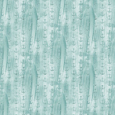 Photograph - Glittery Mint Anchors by P S