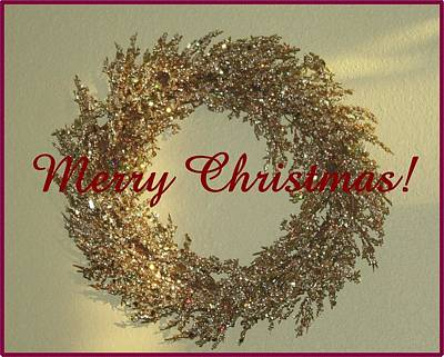 Photograph - Glittery Wreath by Ellen O'Reilly