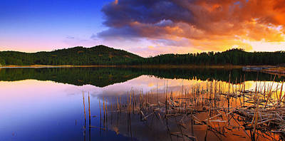 Photograph - Gloaming Lake by Kadek Susanto