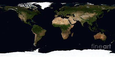 Equirectangular Photograph - Global Image Of The World by Stocktrek Images