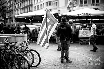 Photograph - Global Support In Barcelona by John Rizzuto