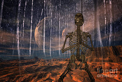 Skeleton Photograph - Global Warming by Nichola Denny