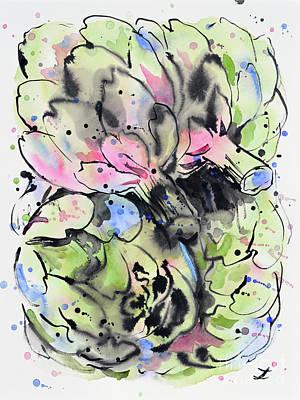 Painting - Globe Artichoke by Zaira Dzhaubaeva