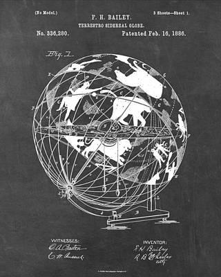 Sidereal Digital Art - Globe For Astrologers by She Seddit