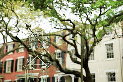 Photograph - Globe Garden Statue #1 by Heather Green