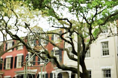 Photograph - Globe Garden Statue #1 by Heather Green