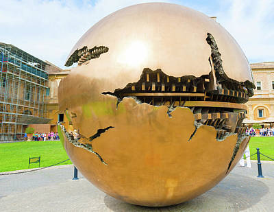 Photograph - Globe In The Vatican Museum by Marek Poplawski