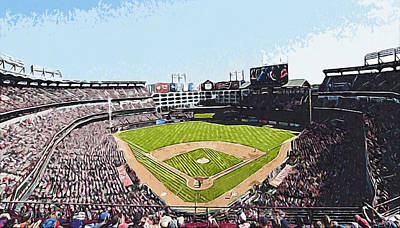 Digital Art - Globe Life Park In Arlington by Kai Saarto