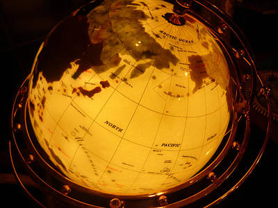 Globe Light One Art Print by Katherine Adams