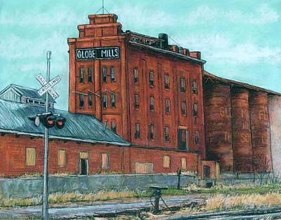 Wall Art - Pastel - Globe Mills-the Last View by Candy Mayer