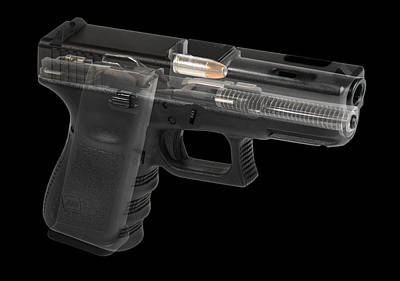 Photograph - Glock 19 Ported In Black by Marius Sipa