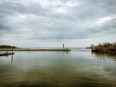Photograph - Gloom On The Bay by Chris Montcalmo