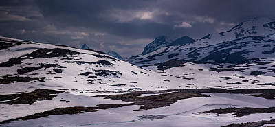 Photograph - Gloomy Day On The Snow Road by Dmytro Korol