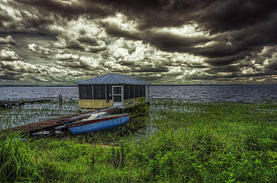 Photograph - Gloomy Day By The Lake by Lewis Mann