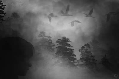 Girl Profile Digital Art - Gloomy by Gun Legler