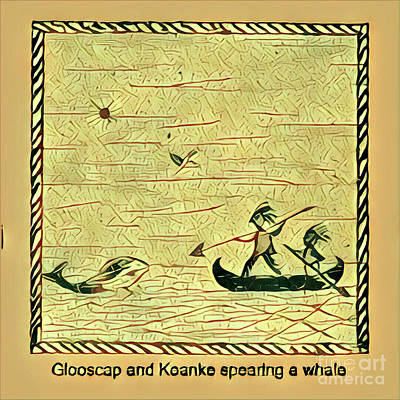 Digital Art - Glooscap And Koanke Spearing A Whale by Art MacKay