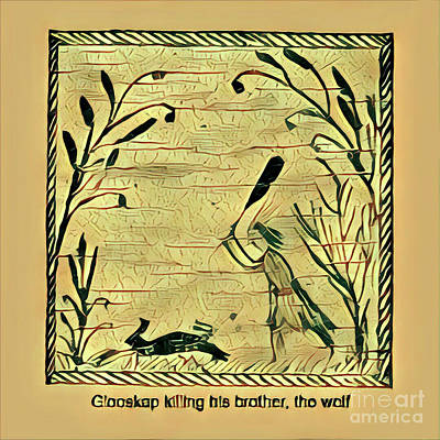 Glooscap Kills The Wolf Art Print