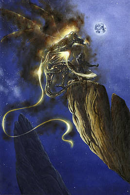Painting - Glorfindel Versus A Balrog Of Morgoth by Kip Rasmussen