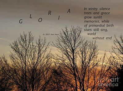 Gloria Print by Ann Horn