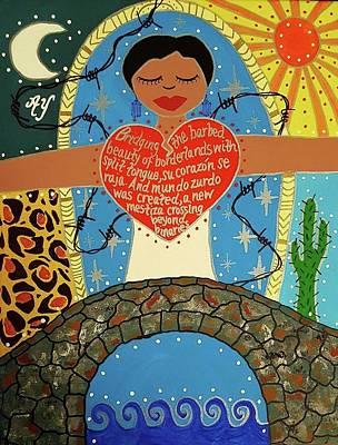 Painting - Gloria Anzaldua by Angela Yarber