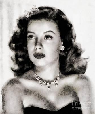 Gloria Painting - Gloria Dehaven, Vintage Actress By John Springfield by John Springfield