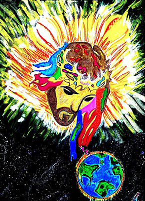The Universe Painting - Gloria Dios by Vanessa Sisk