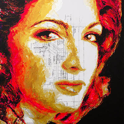 Painting - Gloria Estefan by Havi