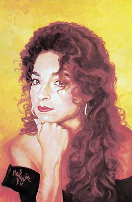Gloria Painting - Gloria Estefan by Neil Feigeles