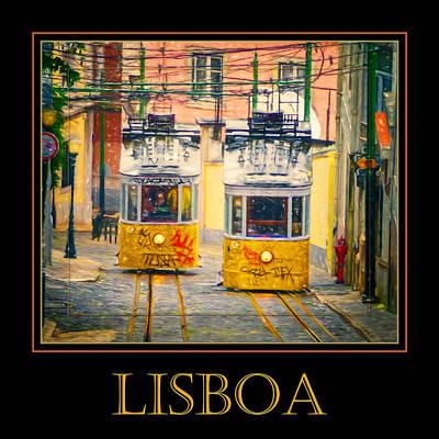 Funicular Photograph - Gloria Funicular Lisboa Poster by Joan Carroll