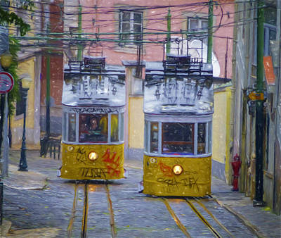 Gloria Funicular Lisbon Art Print by Joan Carroll
