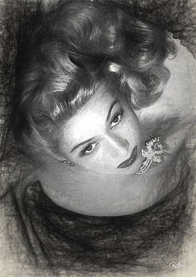 Gloria Drawing - Gloria Grahame Draw by Quim Abella