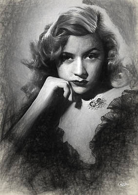 Gloria Drawing - Gloria Grahame Sketch by Quim Abella