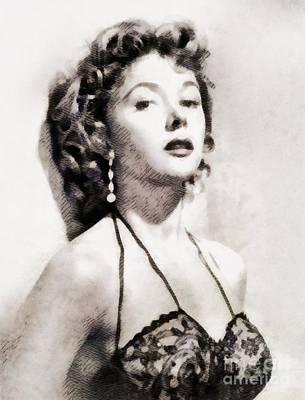 Gloria Painting - Gloria Grahame, Vintage Actress by John Springfield